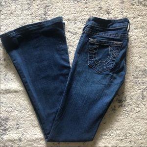 True Religion Bell Bottom Jeans 25